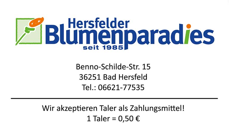 Hersfelder Blumenparadies Bonustaler Kooperationspartner
