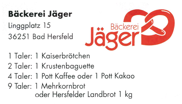 baeckerei jaeger bonustaler kooperationspartner